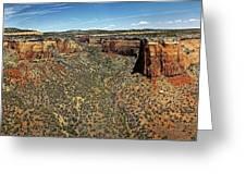 Ute Canyon Panorama Greeting Card