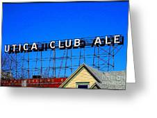Utica Club Ale West End Brewery Greeting Card