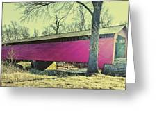 Utica Mills Covered Bridge Greeting Card