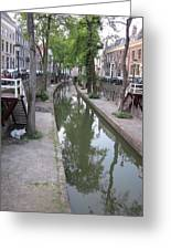 Utrecht Canal Greeting Card