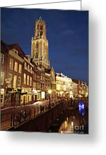 Utrecht Cathedral At Night Greeting Card