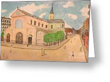 Utrillo And Church Seasonal Change In Paris By Japanese Artist Greeting Card
