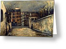 Utrillo: Mont-cenis Greeting Card