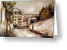 Utrillo: Montmartre, 20th C Greeting Card
