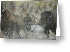 Uttc - Buffalo Mural Left Panel Greeting Card