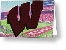 Uw Game Day Poster - Oil Greeting Card