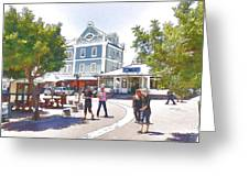 V And A Waterfront Cape Town Greeting Card by Jan Hattingh
