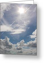 V Cloud Under The Sun  Greeting Card