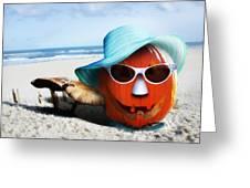 Vacationing Jack-o-lantern Greeting Card