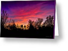 Vacaville Sunset Silhouette  Greeting Card