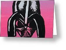 Vader In Pink Greeting Card