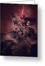 Vader Vs Aliens 3 Greeting Card