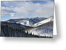 Vail Valley From Ski Slopes Greeting Card