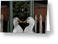 Vain Duck Greeting Card