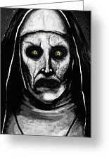 Valak the demon nun greeting card for sale by zapista valak the demon nun greeting card m4hsunfo