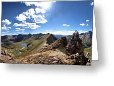 Valecito And Chicago Basins From Mt Jupiter - Weminuche Wilderness - Colorado Greeting Card