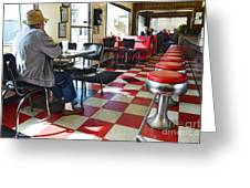 Valentine Diner Interior Greeting Card