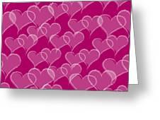 Valentine Hearts Pattern Greeting Card