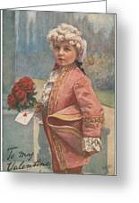 Valentine In The Victorian Era Greeting Card