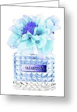 Valentino Blue Perfume Greeting Card