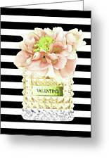 Valentino Perfume With Flower Greeting Card
