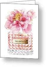 Valentino Pink With Peony Greeting Card