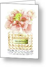 Valentino With Peony Greeting Card