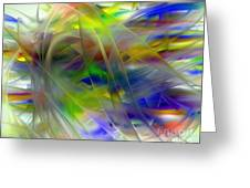 Veils Of Color 2 Greeting Card