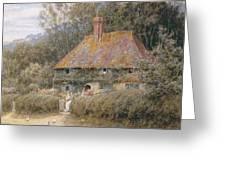 Valewood Farm Under Blackwood Surrey  Greeting Card by Helen Allingham