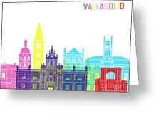 Valladolid Skyline Pop Greeting Card