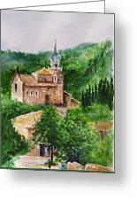 Valldemossa Pleine Air Painting Comp. Greeting Card
