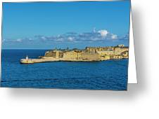 Valletta Port Lighthouse Greeting Card