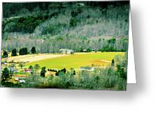 Valley Below Greeting Card