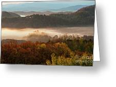 Valley Fog At Sunrise One Greeting Card