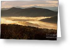 Valley Fog At Sunrise Two Greeting Card