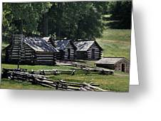 Valley Forge Barracks Greeting Card
