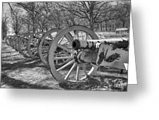 Valley Forge Battery Blackened White Greeting Card