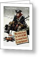 Valley Forge Soldier - Conservation Propaganda Greeting Card