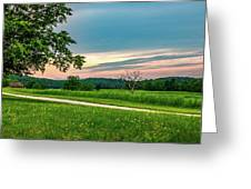 Valley Forge Sunset Greeting Card