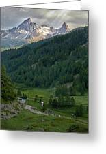 Valley In The French Alps Greeting Card