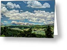 Valley In The Rockies Greeting Card