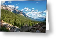 Valley Near Moraine Lake Banff Greeting Card