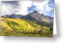 Valley Of Autumn II Greeting Card