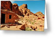 Valley Of Fire Cabin Greeting Card