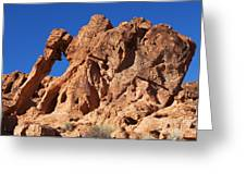 Valley Of Fire Elephant Rock Greeting Card