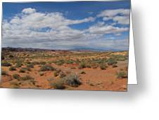 Valley Of Fire Horizon Greeting Card