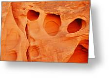 Valley Of Fire Sandstone Greeting Card