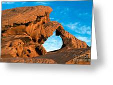 Valley Of Fire State Park Arch Rock Greeting Card