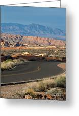 Valley Of Fire State Park Rainbow Vista Greeting Card