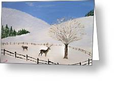 Valley Of Snow Greeting Card